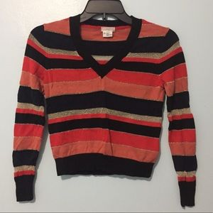 UO Cooperative Cropped V-Neck Knit Autumn Sweater